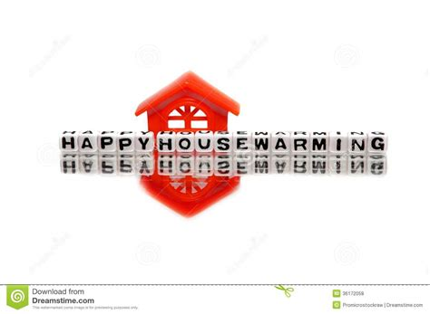 housewarming message  red home royalty  stock