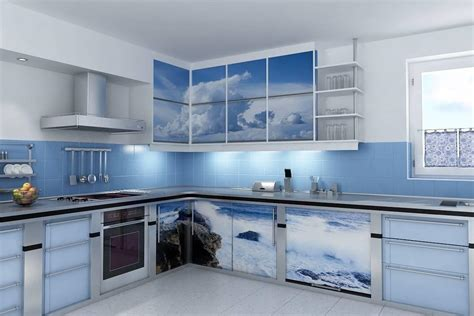 blue kitchen designs blue kitchen design ideas with blue tile wall backsplash 1733