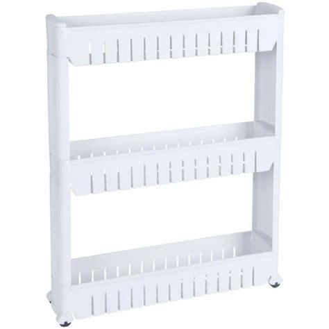 meuble de rangement cuisine a roulettes etagère de rangement resserre a roulettes 3 etages spécial