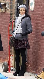 Lucy Liu - Elementary Set Photos in NYC - GotCeleb