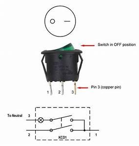3 Pin Rocker Led Switch Wiring Diagram
