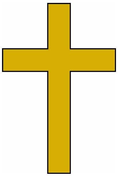Cross Clip Clipart Gold Christian Cliparts Catholic