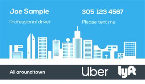 uber business cards printed  printelf  templates
