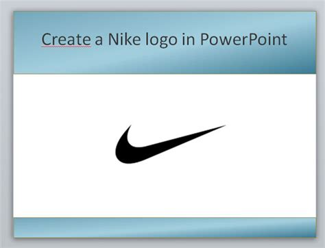 create  nike powerpoint template  shapes