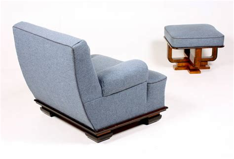 easy chairs with ottomans art deco easy chair and ottoman at 1stdibs