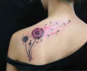Tattoos Frauen Schulter : pusteblume tattoo welche ist die richtige k rperstelle daf r tattoos zenideen ~ Frokenaadalensverden.com Haus und Dekorationen