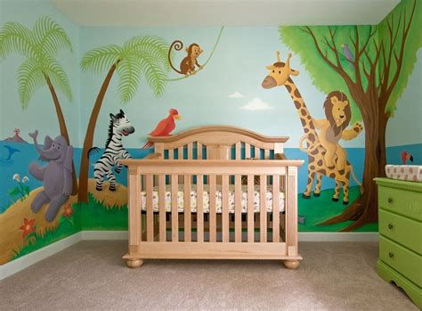 baby nursery mural noahs ark  love