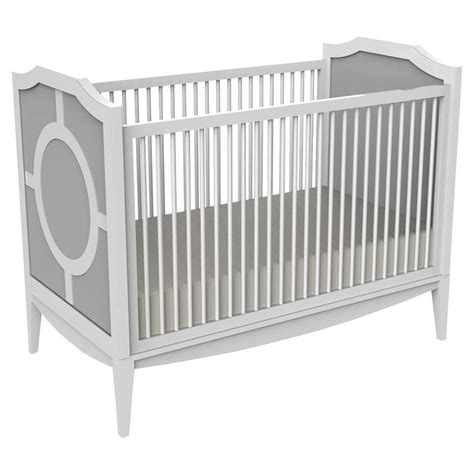 Light Grey Crib by Ducduc Regency Modern White Light Grey Crib Kathy Kuo Home