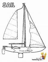 Coloring Sailing Boat Ship Boats Boys Catamaran Colouring Ships Yacht Sail Plan sketch template