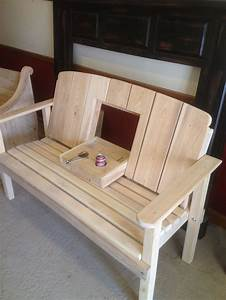 Bench With Drink Holder Grossie39s Cypress Furniture