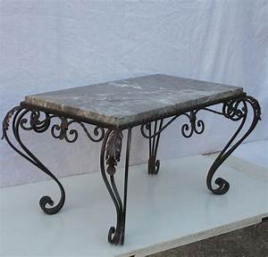 french wrought iron marble coffee table antiques atlas With wrought iron marble coffee table