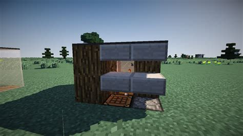 minecraft small shack tutorial smallest house