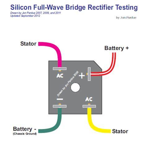 silicon bridge full wave rectifier testing home of the pardue brothers