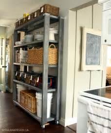 Kitchen Pantry Furniture Rolling Kitchen Pantry Shelves