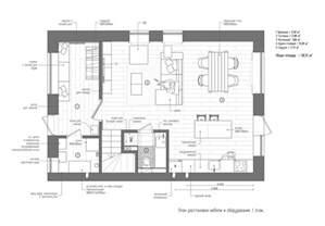 One Bedroom Cabin Floor Plans Duplex Penthouse With Scandinavian Aesthetics Industrial Elements