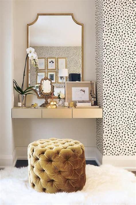 black white  gold color scheme interiors