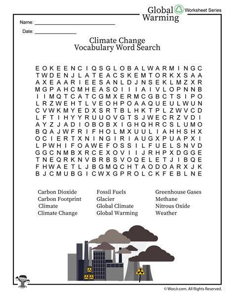 Global Warming  Climate Change Word Search  Woo! Jr Kids Activities