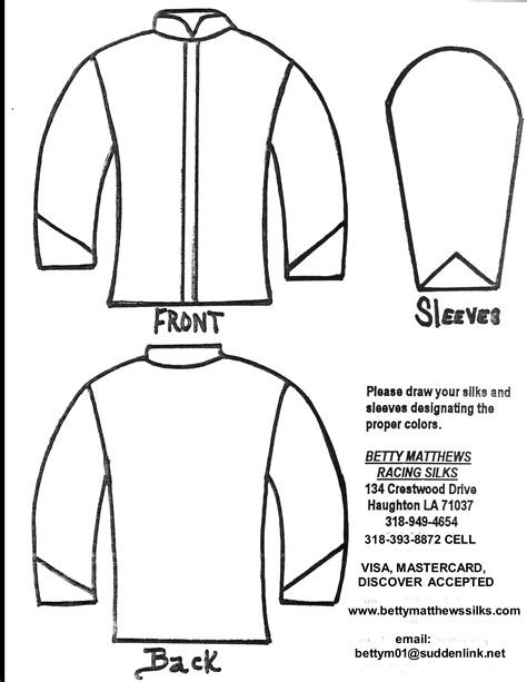 Jockey Silks Coloring Page Pages