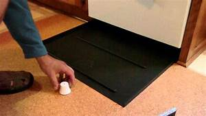 how to plan and place your dishwasher leak pan youtube With water on floor under refrigerator
