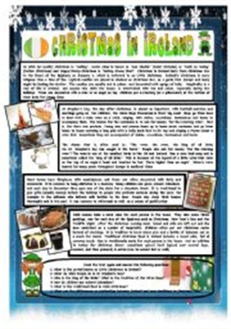 christmas around the world part 7 ireland b w version included reading comprehension