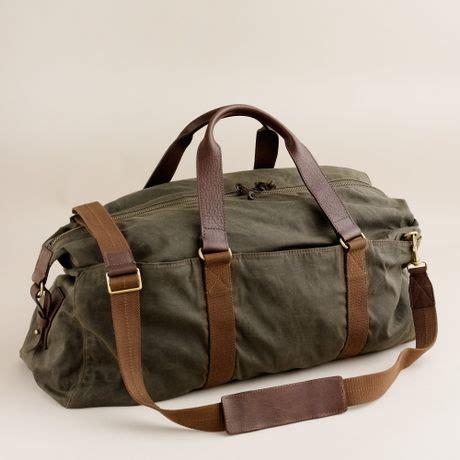 jcrew abingdon weekender bag  green  men deep olive lyst