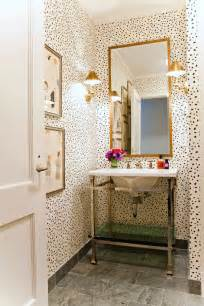 Wallpaper Bathroom Ideas Leopard Print Cheetah Pattern Home Decor Interior Design