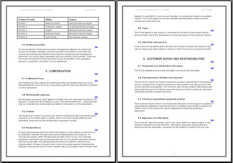 sla template service agreement template non compete agreement