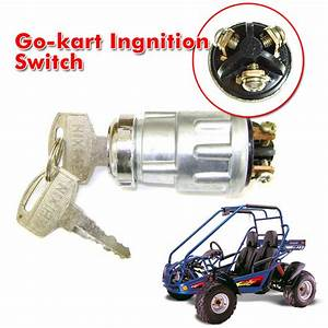 3 Wiring Terminal Go Kart Ignition Start Switch Key 50 90