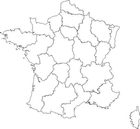 Carte De Département Et Région Vierge by Geography Cartes De