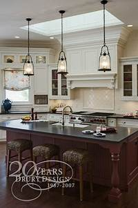 Love the pendant lights over island dream home