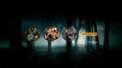 horror games youtube channel art youtube channel art banners