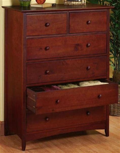 Dark Cherry Wood Dresser by Shaker Style Cherry Wood Bedroom Dresser 48 5hx37w Dark