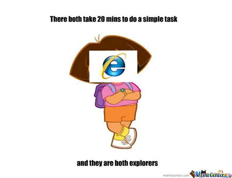 Memes Dora Explorer - dora internet explorer by pigga8 meme center
