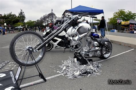 Insane One Of A Kind Skull Chopper