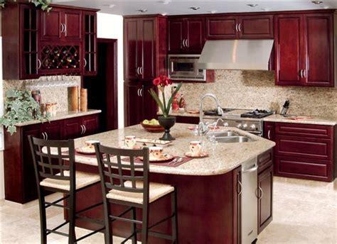 maple cherry kitchen cabinets w granite counter