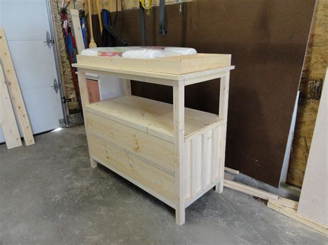 ana white small dresserchanging table diy projects