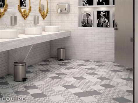 Grey Tile Bathroom Floor by 21 Arabesque Tile Ideas For Floor Wall And Backsplash