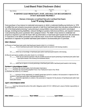nyc lead paint disclosure form lead based paint disclosure form fill online printable