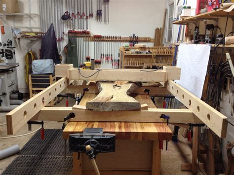 redbud slab hall table finewoodworking