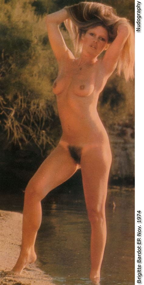 French Actress Brigitte Bardot Posing Full Frontal Nude