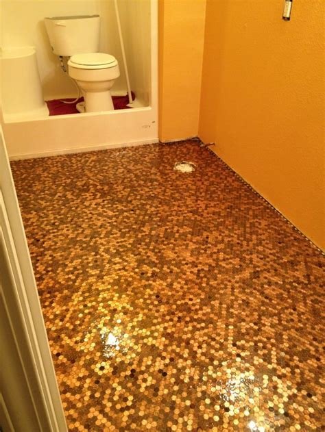 This is my own penny floor!! This was taken before the