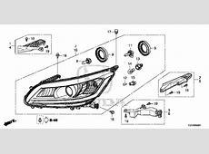 OEM 2014 Honda ACCORD SEDAN Headlight 1 Parts