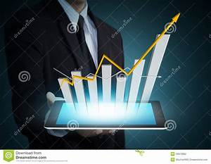 Growth Chart On Tablet Technology Stock Photography