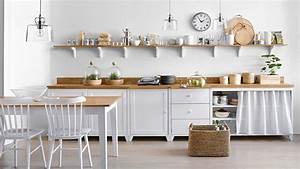 Les etageres ouvertes dans la cuisine pour ou contre for Deco cuisine avec buffet chene clair
