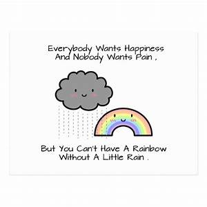 Cute Rainbow Ra... Cutehappy Quotes