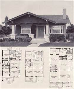 adair homes floor plans 1920 1920s bungalow forward gable cottage style plan no l
