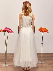 Rose jupon de tulle robe de mariee createur et sur for Robe de mariée créateur pas cher