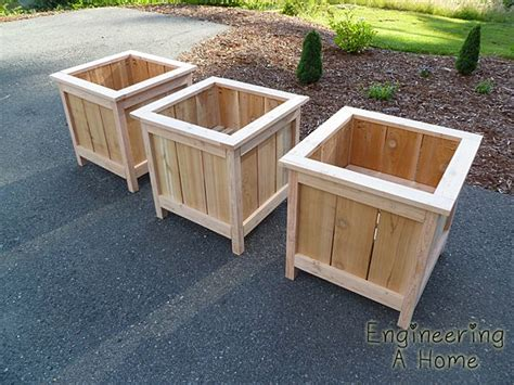 cedar planter box plans cedar planter boxes home ideas garden planter boxes diy planter