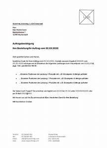 Rechnung Höher Als Angebot Vob : vorlage f r auftragsbest tigung zum kostenlosen download ~ Themetempest.com Abrechnung