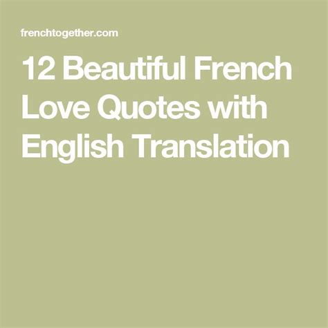 french love quotes ideas  pinterest french